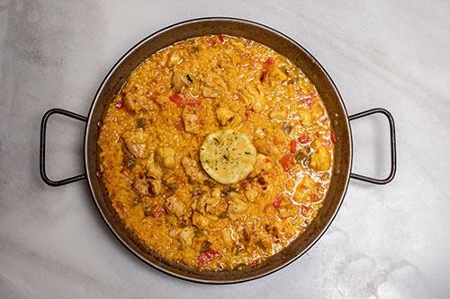 Paella de pollo   Taberna El Fontán