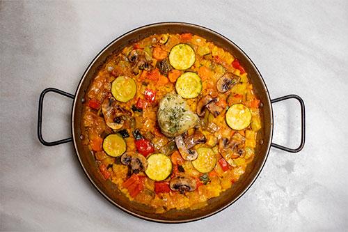 Paella de verduras   Taberna El Fontán