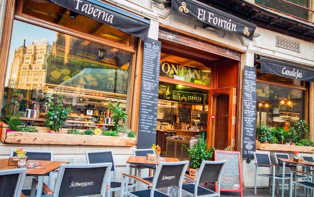 Terraza al aire libre | Taberna Sidrería El Fontán Madrid centro